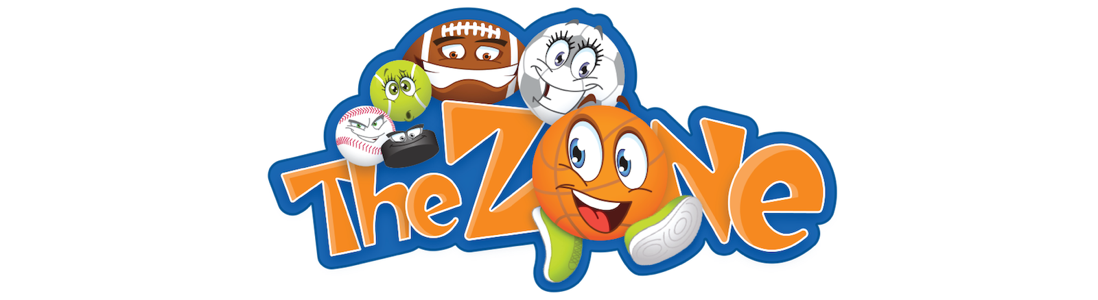 Logo for TheZone - an interactive children's play area with an athletics and STEAM focus