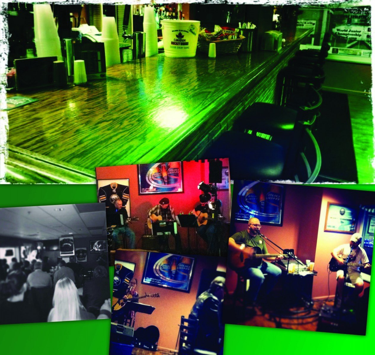 Photo collage of Sully's, a restaurant at the Northwest Arena