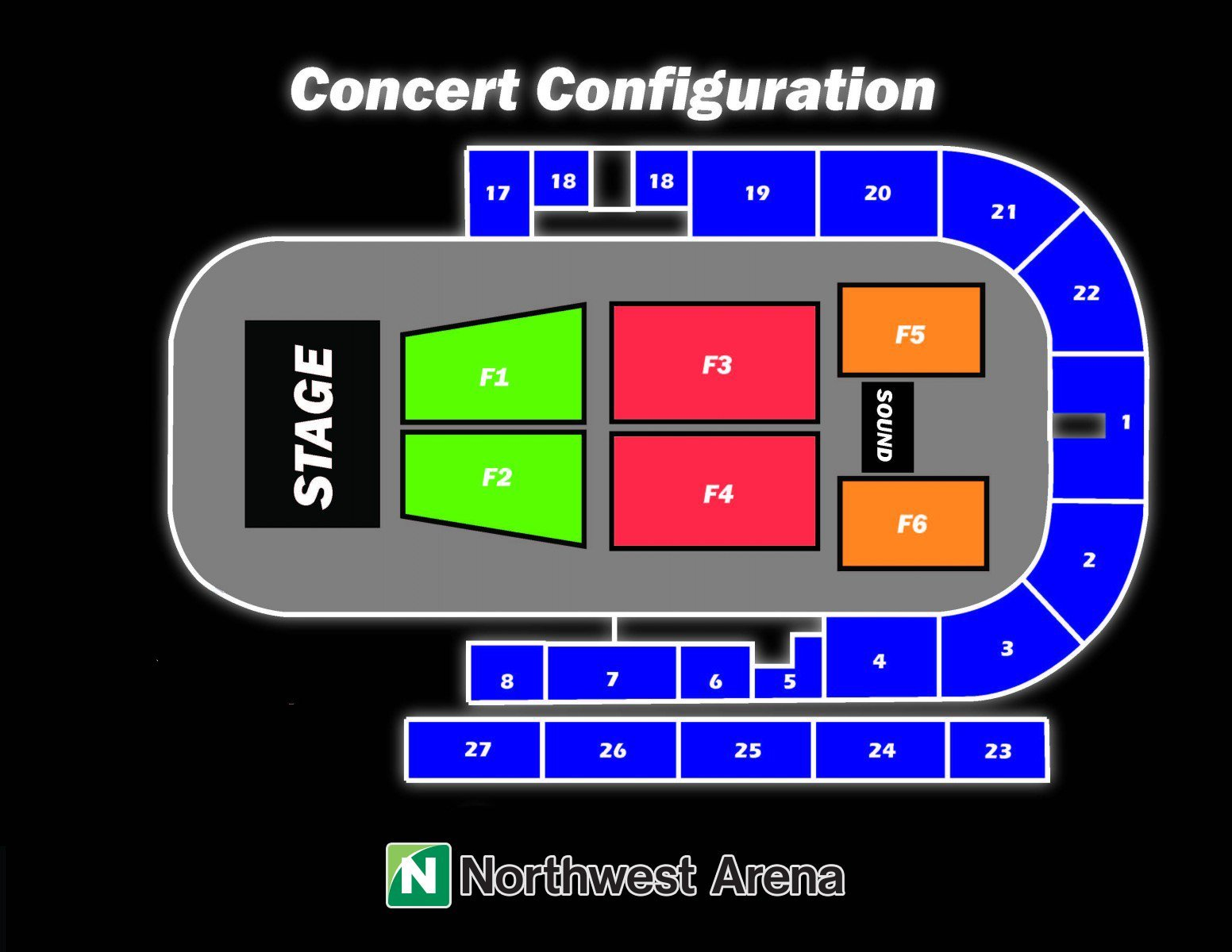 Seating Configuration Chart for Concerts