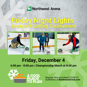 Poster promoting December 4 curling tournament