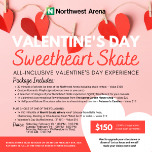 Valentine's Day Sweetheart Skate details