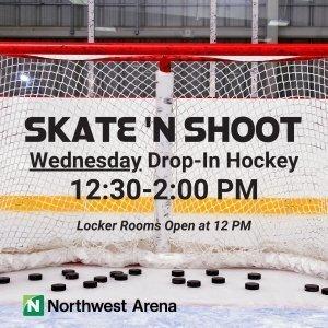 Skate n' Shoot Wednesday Drop-In Hockey Flyer
