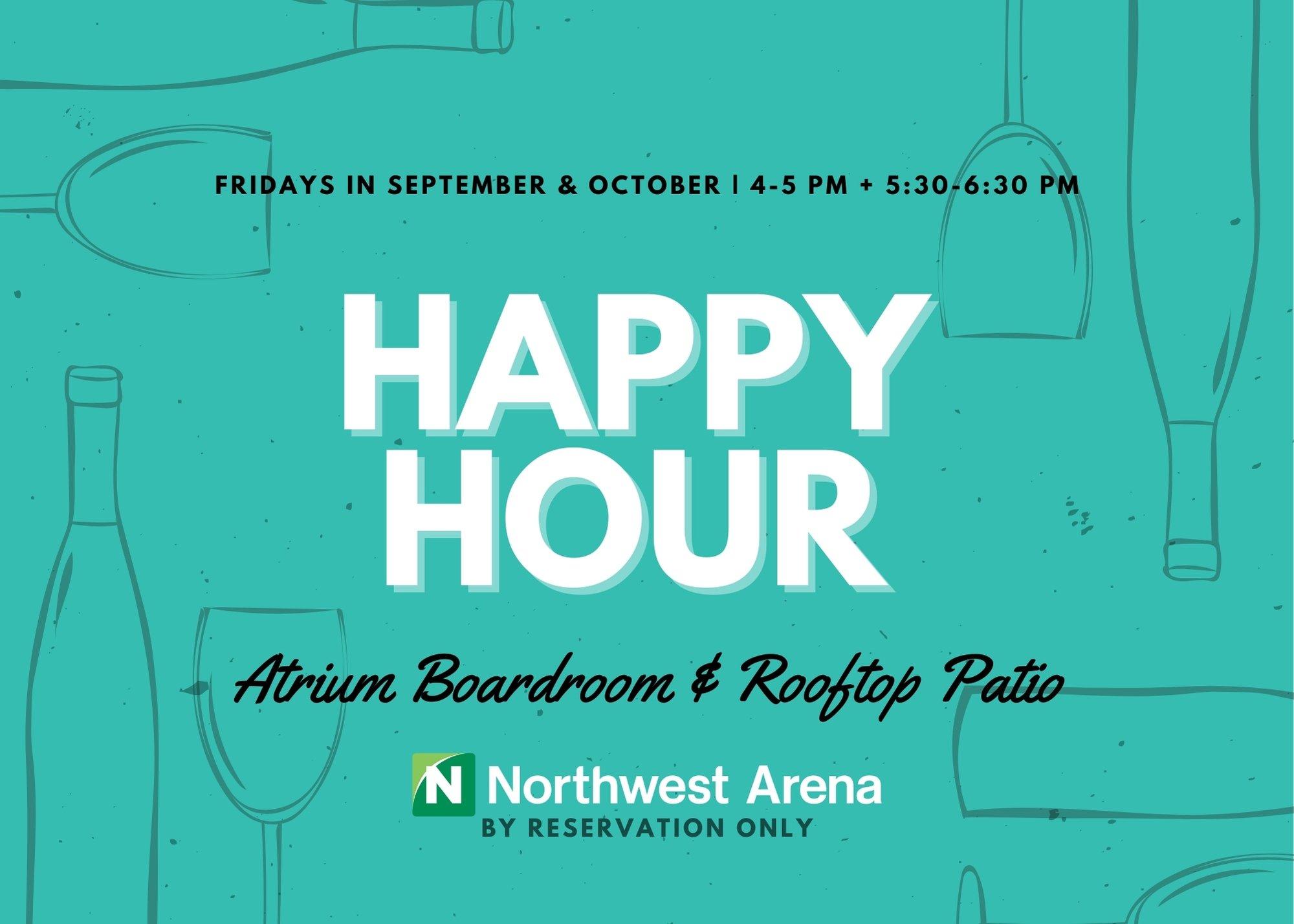 Flyer Promoting Atrium Happy Hours