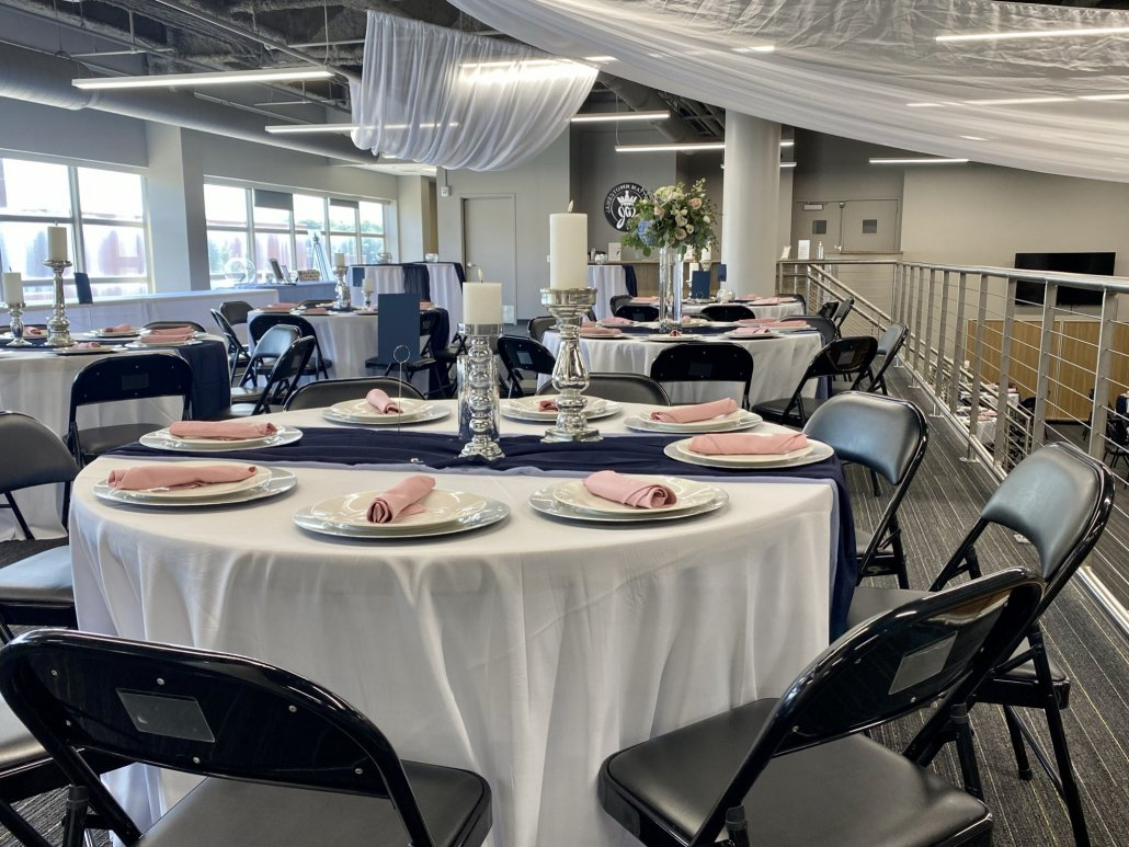 Wedding Decor and Tables at a reception