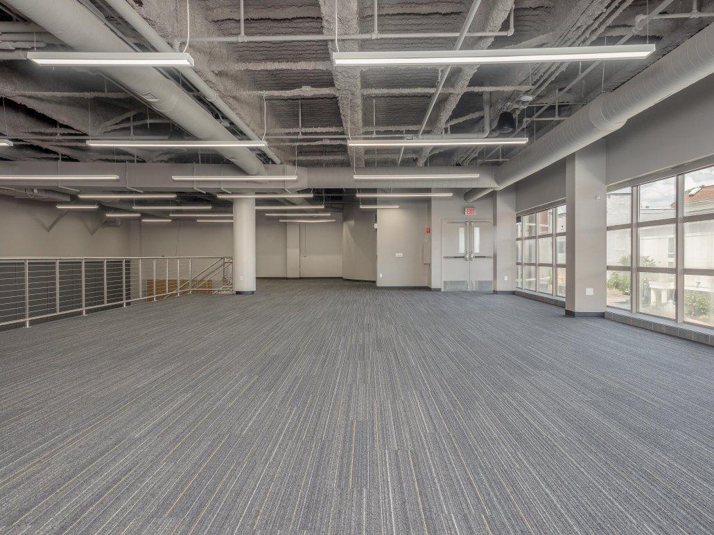 empty Jamestown Mattress Arena Club - upper tier, north facing