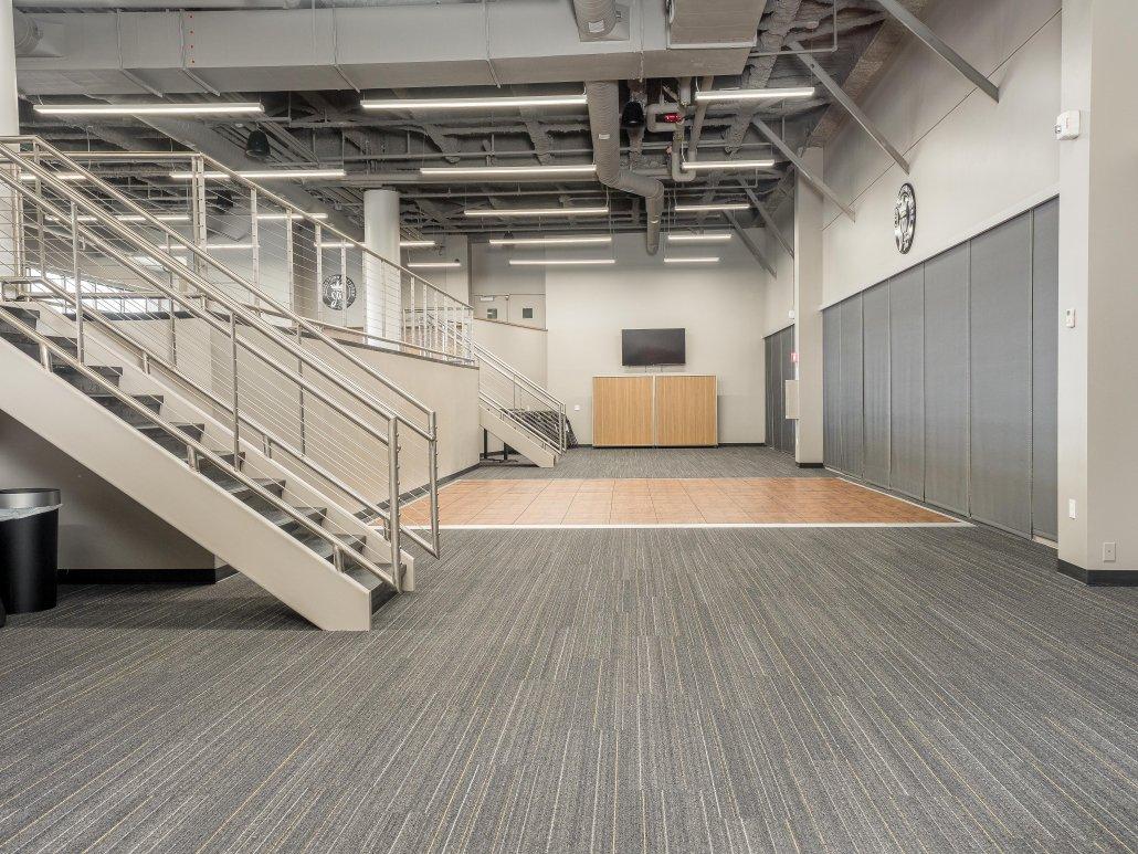 Jamestown Mattress Arena Club, lower tier