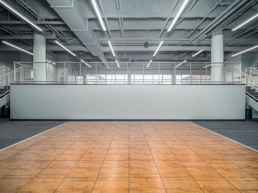 Jamestown Mattress Arena Club, dance floor on lower tier