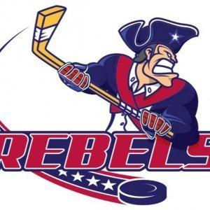 Jamestown Rebels Logo with NAHL