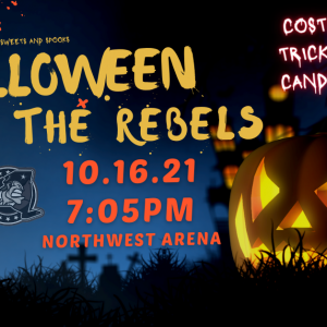 Halloween with the Rebels Event Flyer