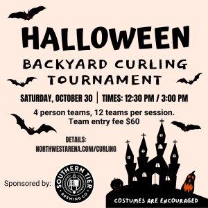 Halloween Backyard Curling Tournament Flyer